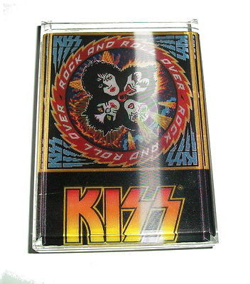 KISS Rock Band 3D Motion Acrylic Executive Display Piece or Desk Top Paperweight