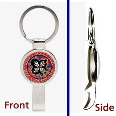 Kiss Rock and Roll Over Album Pennant or Keychain silver secret bottle opener , Novelties - n/a, Final Score Products