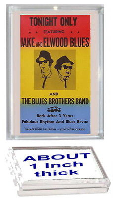 The Blues Brothers Concert Poster Acrylic Display Piece or Desk Top Paperweight , Other - n/a, Final Score Products