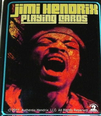 Official Jimi Hendrix playing cards Fridge Magnet big 2.5 X 3.5 inches