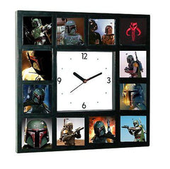 Star Wars faces of Boba Fett Clock with 12 pictures , Boba Fett - n/a, Final Score Products