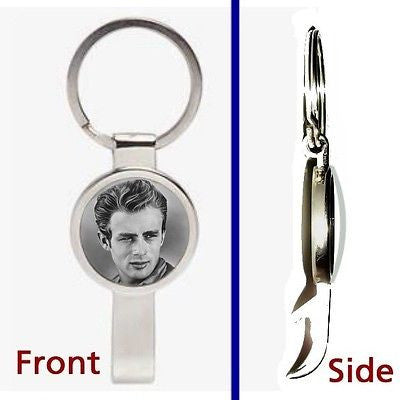 James Dean Pendant or Keychain silver tone secret bottle opener , Other - n/a, Final Score Products