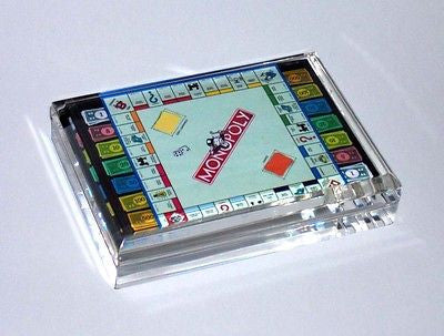 Monopoly Board and Money Acrylic Executive Desk Top Paperweight , 1990-Now - n/a, Final Score Products