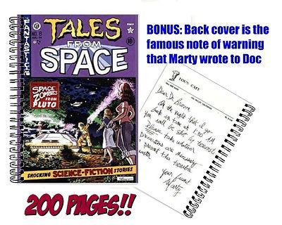 Back To The Future Tales From Space Zombie Comic with Marty Note to Doc Notebook