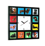 Dachshund Weiner Dog Clock with 11 pictures puppy adult , Dachshund - n/a, Final Score Products