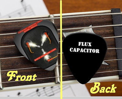 Back To The Future Flux Capacitor Set of 3 premium Promo Guitar Pick Pic , Other - n/a, Final Score Products