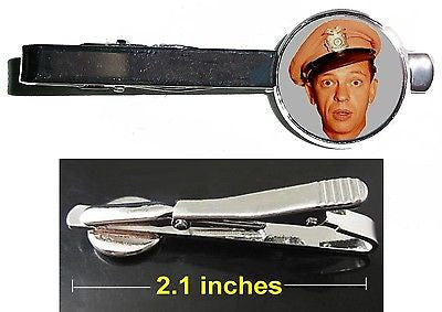 The Andy Griffith Show Barney Fife Tie Clip Clasp Bar Slide Silver Metal Shiny , Jewelry - n/a, Final Score Products
