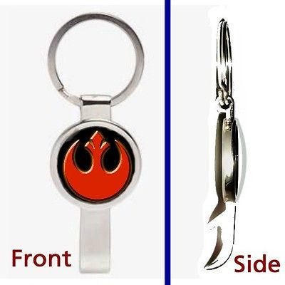 Star Wars Rebel Alliance emblem logo Pendant or Keychain secret bottle opener , Keyrings - n/a, Final Score Products