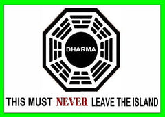 Official LOST TV show Dharma Warning Fridge Magnet big 2.5 X 3.5 inches , Fridge Magnets - n/a, Final Score Products