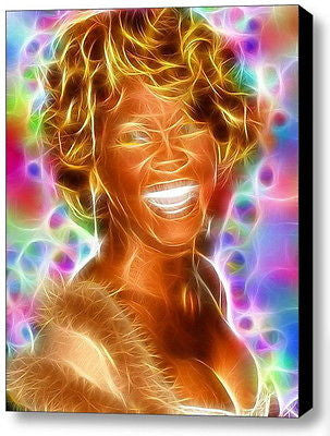 Framed Magical Whitney Houston 9X12 inch Limited Edition Art Print w/COA