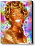Framed Magical Whitney Houston 9X12 inch Limited Edition Art Print w/COA , Houston, Whitney - n/a, Final Score Products
