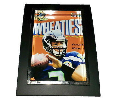 Mini Russell Wilson Wheaties Box Framed Art Print Display Memorabilia Man Cave , Prints - n/a, Final Score Products