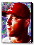 Framed Angels Mike Trout Magical 9X11 Art Print Limited Edition w/signed COA , Baseball-MLB - n/a, Final Score Products