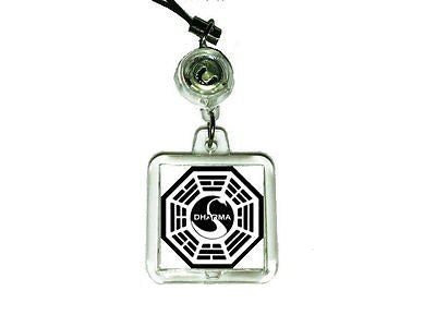 LOST tv show Dharma Swan Station Cell Phone Blinking Flashing Charm