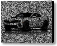2012 Chevy Chevrolet Camaro Word Mosaic Framed 9X11 Limited Edition Art , Chevrolet - n/a, Final Score Products