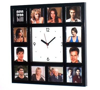 One Tree Hill TV Show Clock with 12 images of cast , Watches & Clocks - n/a, Final Score Products