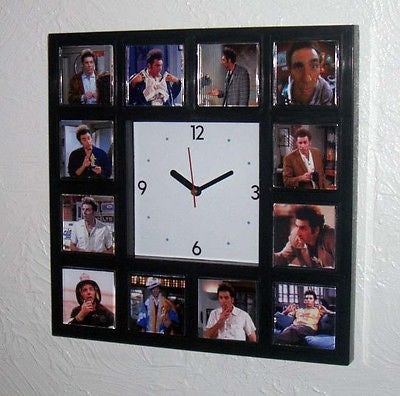 Seinfeld Cosmo Kramer promo Clock with 12 pictures Sienfeld Michael Richards