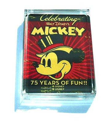 Acrylic Mickey Mouse 75the celebration Paperweight , Other - n/a, Final Score Products