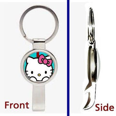 Hello Kitty Pennant or Keychain silver tone secret bottle opener , Hello Kitty - n/a, Final Score Products