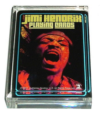 Jimi Hendrix 2-sided Acrylic Executive Desk Paperweight
