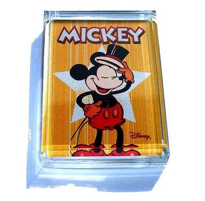 Acrylic Mickey Mouse hat tip Executive Paperweight