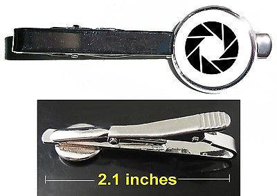 Portal 2 Aperture Laboratories Tie Clip Clasp Bar Slide Silver Metal Shiny , Video Game Memorabilia - n/a, Final Score Products