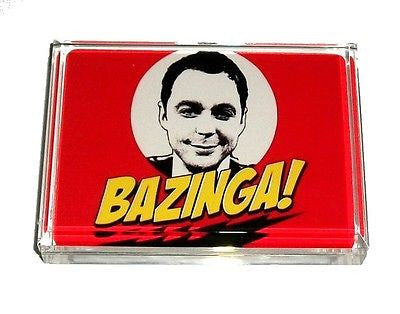 The Big Bang Theory Sheldon Cooper BAZINGA Acrylic Executive DeskTop Paperweight , Other - n/a, Final Score Products