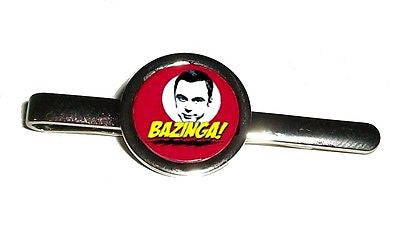 The Big Bang Theory Sheldon Cooper Bazinga Silver Tone Tie Clip