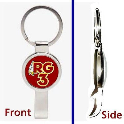 Washington Redskins RG3 Pennant or Keychain silver tone secret bottle opener , Football-NFL - n/a, Final Score Products