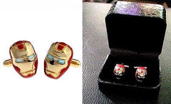 Iron Man Gold Tone Cuff Links with box wedding Groomsmen Gift , Other - n/a, Final Score Products