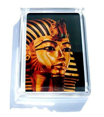 Acrylic Ancient Egypt King Tut Sarcophagus Executive Desk Top Paperweight