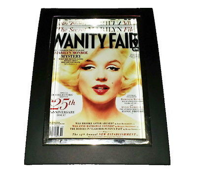 Mini Marilyn Monroe Vanity Fair Framed Art Print Display Memorabilia Man Cave , Prints - n/a, Final Score Products