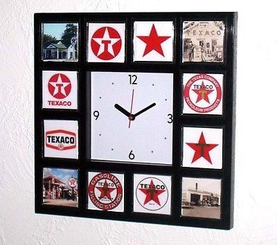 History of Texaco Gas Oil logo Clock with 12 pictures , Other - n/a, Final Score Products
