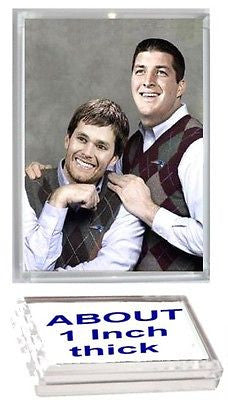 NE Patriots Tim Tebow Tom Brady Executive Display Piece Desk Top Paperweight , Football-NFL - n/a, Final Score Products