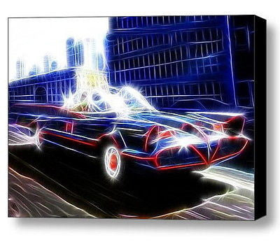 Framed Magical Batman 1966 Batmobile 9X11 Art Print Limited Edition w/signed COA