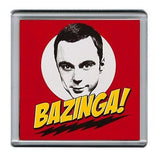 BAZINGA The Big Bang Theory Sheldon Cooper Coaster 4 X 4 inches , Mugs & Coasters - n/a, Final Score Products