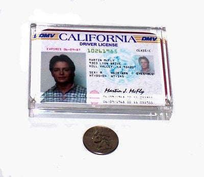 Back to the Future Marty McFly License Paperweight prop