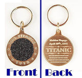 Authentic real Titanic Coal relic bronze metal key chain from The Highland Mint , Other - n/a, Final Score Products