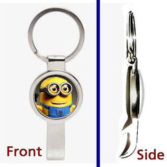 Despicable Me 2 Minion Dave Pennant or Keychain silver tone secret bottle opener , Keyrings - n/a, Final Score Products