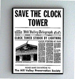 Marty McFly hand out Back To The Future SAVE CLOCK TOWER framed prop display , Reproductions - n/a, Final Score Products