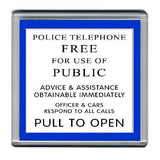 Dr. Who Tardis Police Sign Coaster 4 X 4 inches , Mugs & Coasters - n/a, Final Score Products