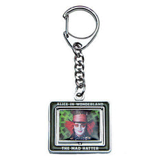 Disney Alice in Wonderland Johnny Depp Mad Hatter White Rabbit Spinner Key Chain , Keyrings - n/a, Final Score Products