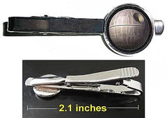 Star Wars The Death Star Tie Clip Clasp Bar Slide Silver Metal Shiny , Lightsabers, Weapons - n/a, Final Score Products