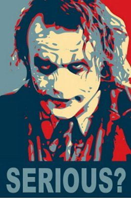 19X13 BATMAN Heath Ledger JOKER poster art print RARE