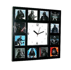 Faces of Darth Vader Star Wars Clock with 12 images some with Light Sabre , Darth Vader - n/a, Final Score Products