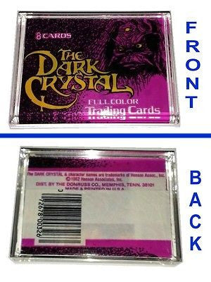 real 1982 The Dark Crystal Trading Cards Wrapper Acrylic Display Paperweight