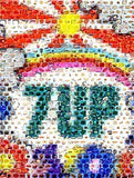 Amazing Peter Max 7-UP FOOD Montage retro 1960s w/COA , 7 UP - 7-up, Final Score Products