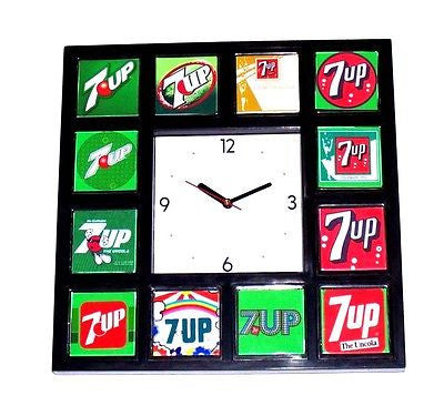 History of 7-UP UnCola soda pop Clock with 12 classic images Un Cola , 7 UP - n/a, Final Score Products