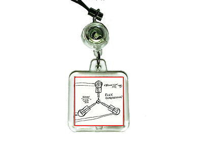 Back To The Future Flux Capacitor Sketch Cell Phone Blinking Flashing Charm