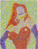 Jessica Rabbit Pez Candy Incredible Mosaic Art Print , Other - n/a, Final Score Products
